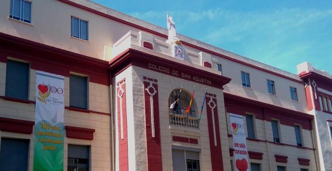 Fachada del Colegio San Agustín de Ceuta.