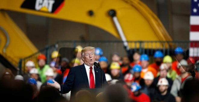 El presidente de EEUU, Donald Trump, durante una visita el pasado 29 de marzo. EFE