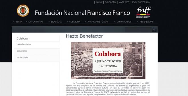 La Fundación Franco se jacta de disfrutar de 'ventajas fiscales' por su carácter 'docente'.