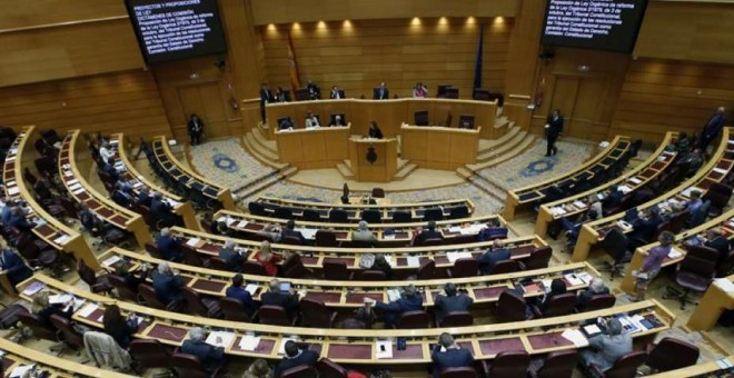 Vista general del pleno del Senado. EFE
