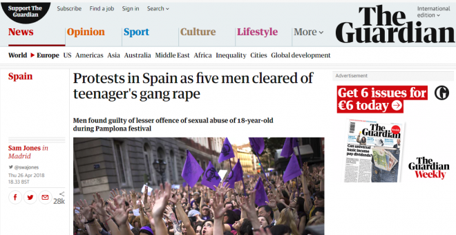 La noticia sobre la sentencia en 'The Guardian'