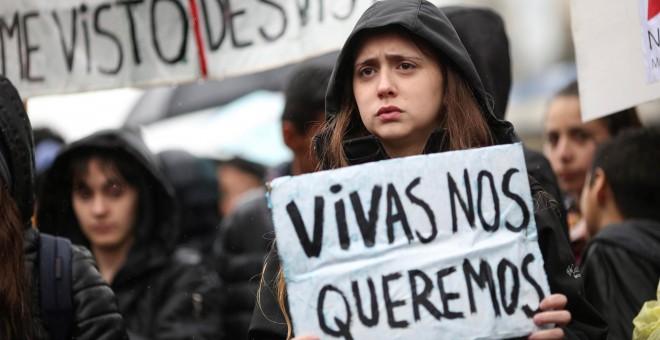 Foto de archivo de una manifestación contra la violencia machista. - EFE