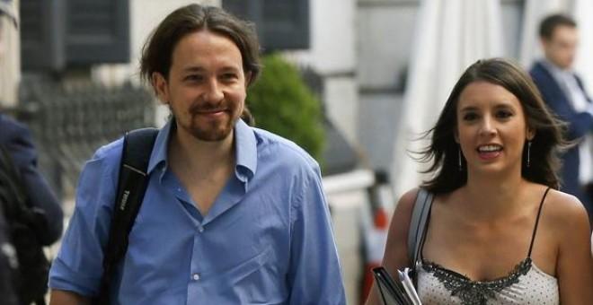 Pablo Iglesias junto a Irene Montero, en una imagen de archivo.- EFE