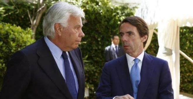 Felipe González y José María Aznar, en una imagen de 2014. POOL / EFE