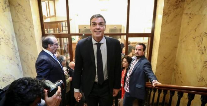 Pedro Sánchez, este viernes en el Congreso. REUTERS/Sergio Pérez