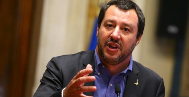 El ministro del Interior de Italia, Matteo Salvini, líder de la ultraderechista Liga. / Reuters
