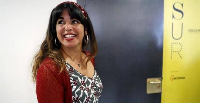 La coordinadora de Podemos en Andalucía, Teresa Rodríguez, durante el reciente Consejo Ciudadano Estatal de la formación morada. (JUAN CARLOS HIDALGO | EFE)