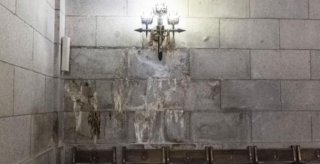 Humedades en la basílica del Valle de los Caídos. / J. GÓMEZ