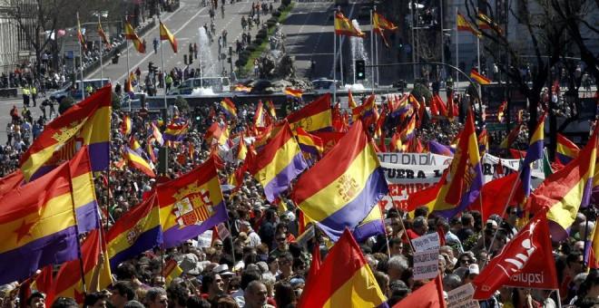 Manifestación a favor de la República en la plaza de Cibeles de Madrid. EFE/Archivo