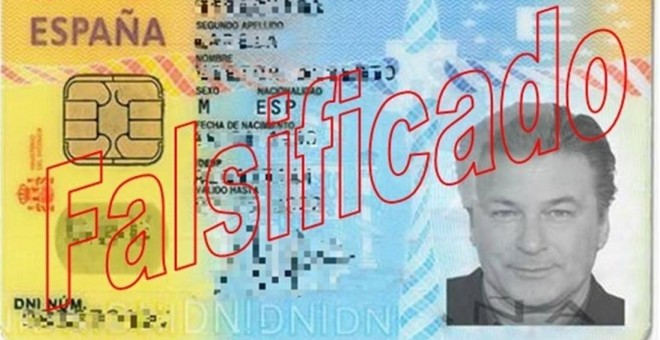DNI falsificado con la foto del actor / Europa Press