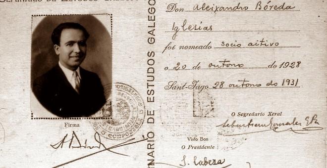 Cédula Seminario de Estudos Galegos.