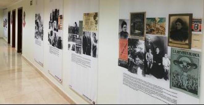 Paneles informativos de la exposición 'Mujeres libres'