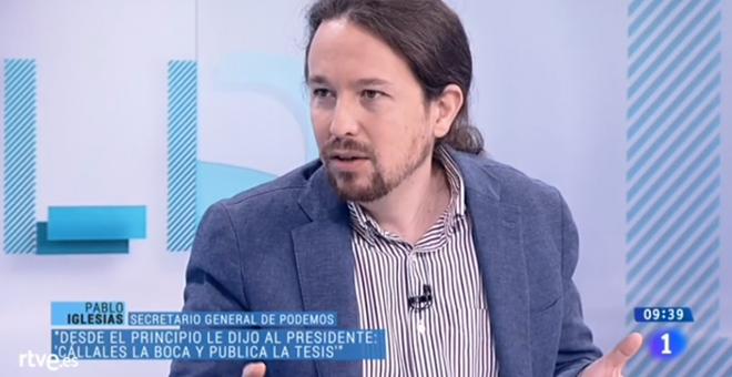 Resultado de imagen de Pablo Iglesias en TVE