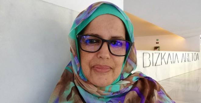 Ghalia Djimi, activista saharaui: 'Marruecos no acepta a ningún saharaui que reivindique sus derechos fundamentales'. / DANILO ALBIN