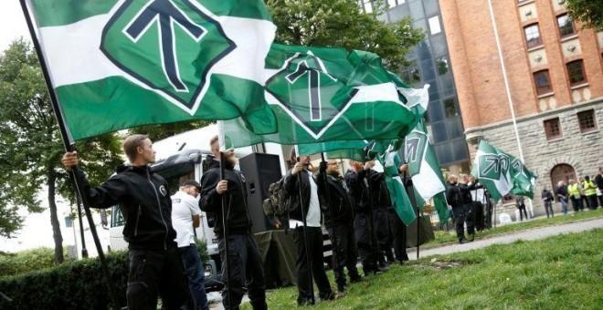 El grupo neonazi Movimiento de Resistencia Nórdico.- AFP