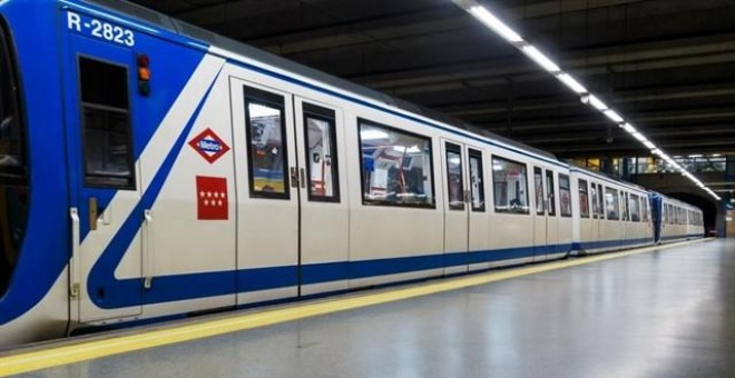 Uno de los vagones de Metro de Madrid - Europa Press