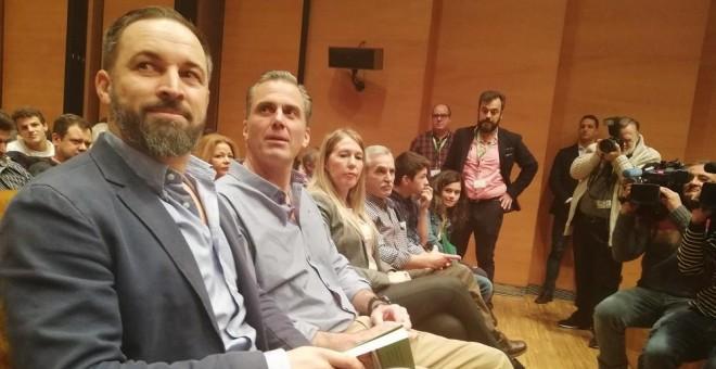 Santiago Abascal en un acto de Vox./PÚBLICO