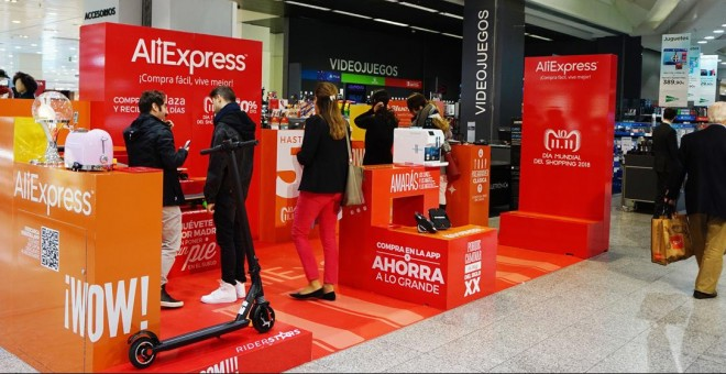 La 'pop up' de AliExpress, en la tienda de El Corte Inglés de Sanchinarro, en Madrid.