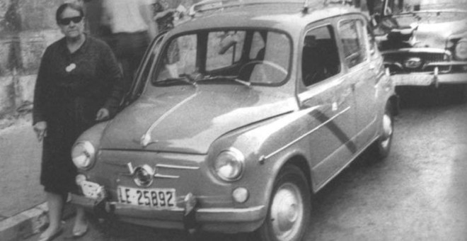 La taxista leonesa Piedad Álvarez Rubio, la Peñina. / EFE