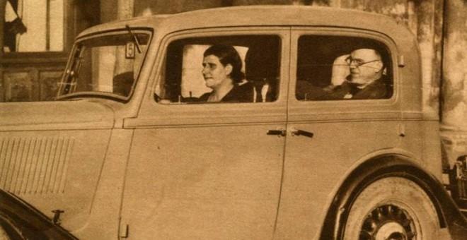 La taxista leonesa Piedad Álvarez Rubio. / MUNDO GRÁFICO