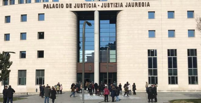 Vista de la sede de la Audiencia Nacional de Navarra. EP
