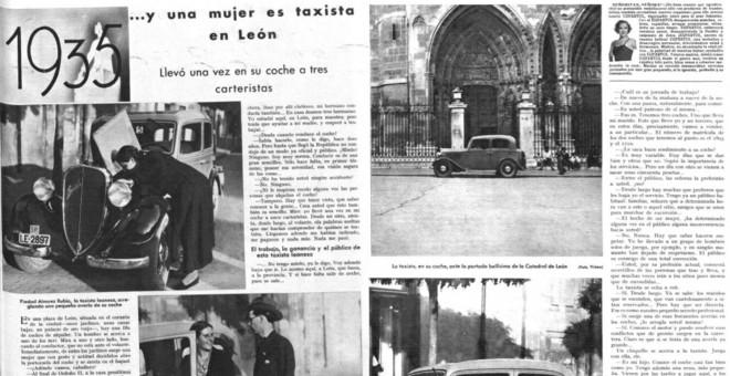 Reportaje sobre Piedad Álvarez, la Peñina, publicado en 1935 en la revista 'Mundo Gráfico'.