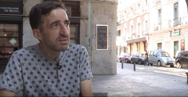 El fotoperiodista Juan Carlos Mohr en una entrevista concedida a La Tuerka.- LA TUERKA