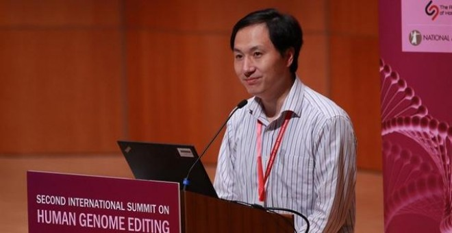 El científico chino He Jiankui interviene en la Universidad de Hong Kong. /REUTERS