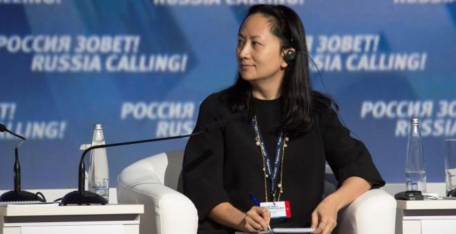 Meng Wanzhou, directora financiera de Huawei. - REUTERS