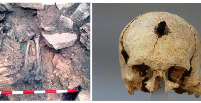 14/03/2019.- Combo de fotografías faciltiadas por el Archivo Museu d'Arqueologia de Catalunya sobre elmayor estudio de ADN hecho hasta la fecha que desvela hasta qué punto algunos de estos pueblos consiguieron moldear el genoma ibérico. EFE