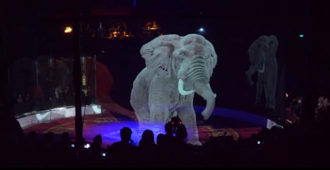 Holograma de un elefante. | Circo Roncalli