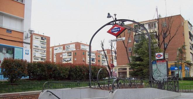 Estación del metro de Peñagrande, lugar donde se ha producido la agresión.