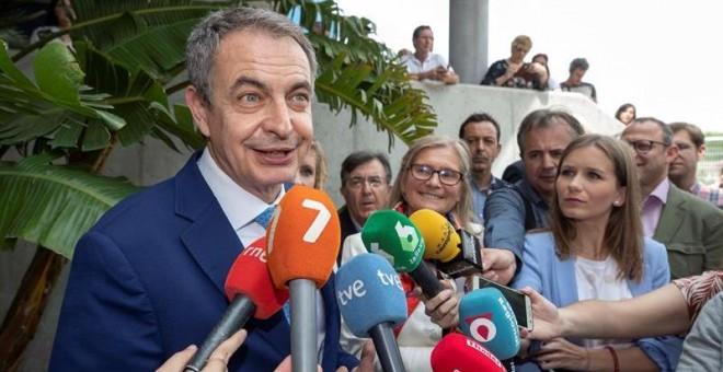07/05/2019.- El expresidente del Gobierno José Luis Rodríguez Zapatero ha defendido este martes 'negociación, diálogo y acuerdo' para Venezuela 'porque cualquier otra alternativa no va a prosperar' y ha criticado al presidente de EEUU, Donald Trump