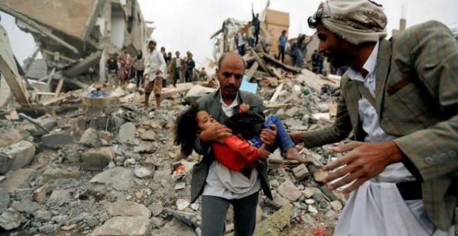 La mayor parte de las víctimas civiles fueron causadas por ataques aéreos. / Reuters