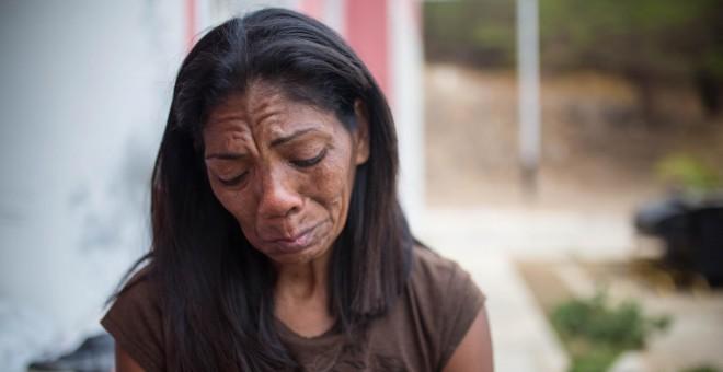Innes Esparragoza, madre de Orlando Figuera, el joven apuñalado y quemado vivo en Caracas durante las protestas opositoras de 2017. JAIRO VARGAS