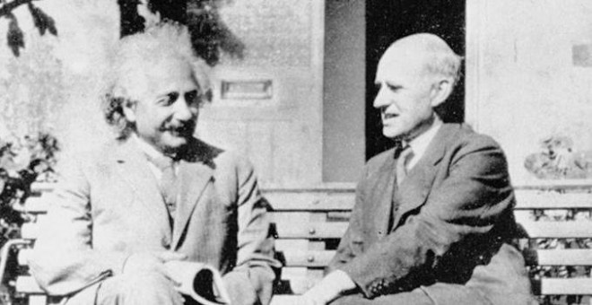 Einstein y Eddington, en 1930 en la Universidad de Cambridge./RAS