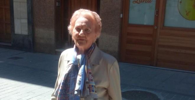 Carmen García, de 90 años, hija de un fusilado de la Guerra civil. Fotografía facilitada por la familia.