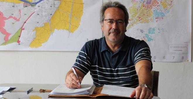Francisco Guarido, en su despacho de la Alcaldía de Zamora.