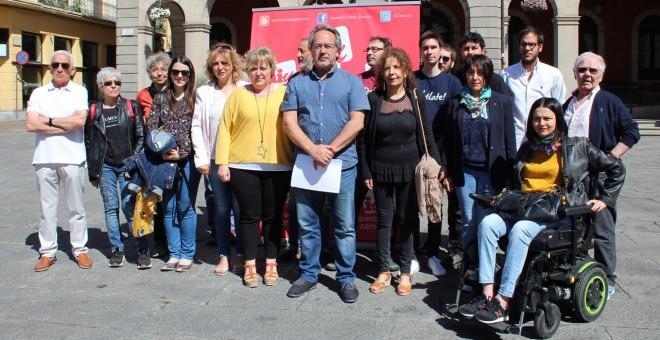 El equipo de IU en Zamora, al final de la campaña electoral.