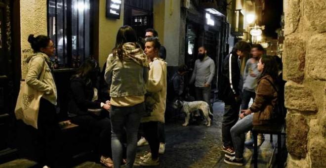 Ambiente nocturno en Zamora, donde la zona de Los Lobos y la calle Herreros destacan por sus pinchos. / TURISMO-ZAMORA.COM