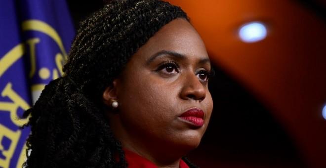 15.06.2019/ Ayanna Pressley habla durante la conferencia de Demócratas en el Congreso de Estados Unidos. REUTERS/Erin Scott