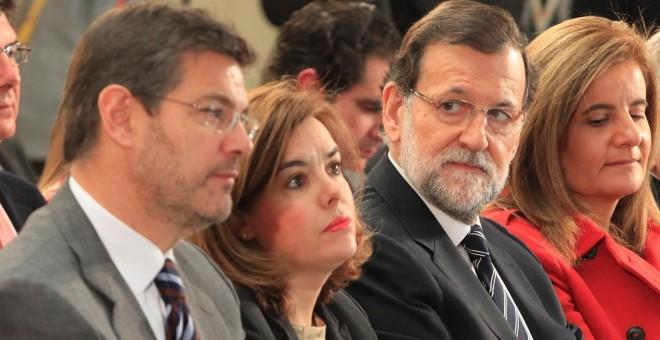 Rafael Catalá, Soraya Saenz de Santamaría, Mariano Rajoy y Fátima Báñez | Europa Press