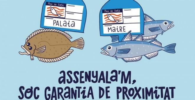 Cartell de la campanya 'Assenyala'm, soc garantia de proximitat'