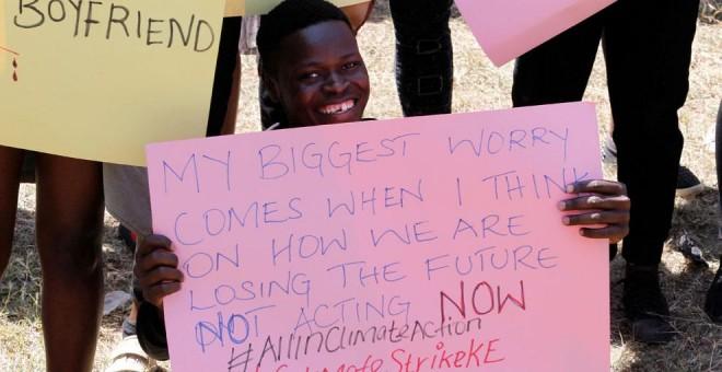 20-09-2019.- Protestas ecologistas en Nairobi, Kenia. REUTERS/Njeri Mwangi