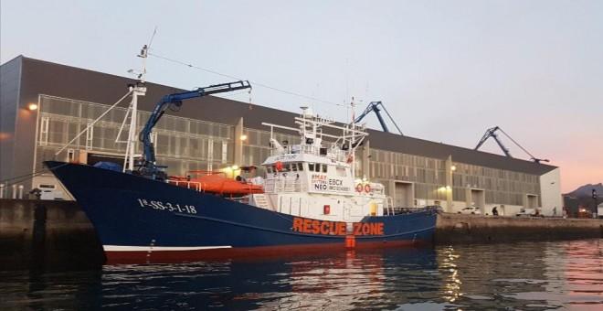 El buque Aita Mari parte rumbo al Mediterráneo con ayuda humanitaria tras varios retrasos