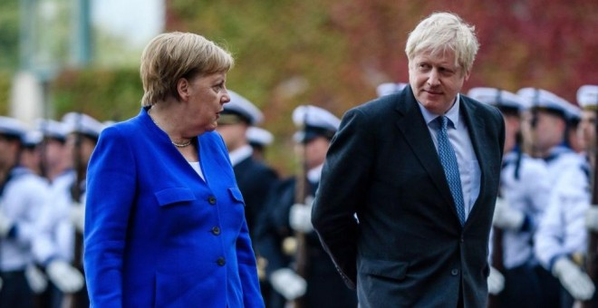 Angela Merkel y Boris Johnson en Berlín | EFE