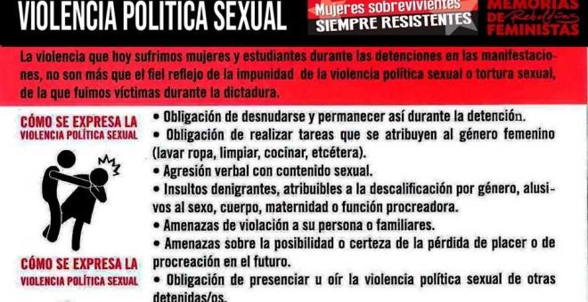 Imagen campaña contra el acoso sexual por los cuerpos de seguridad en Chile