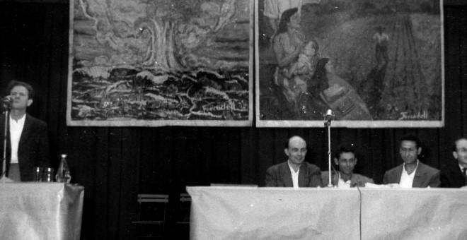 Fotografía del acto que la CNT organizó en el exilio en el año 1957, conmemorando el XXI aniversario de la revolución social española.  - Archivo CNT/ FAL