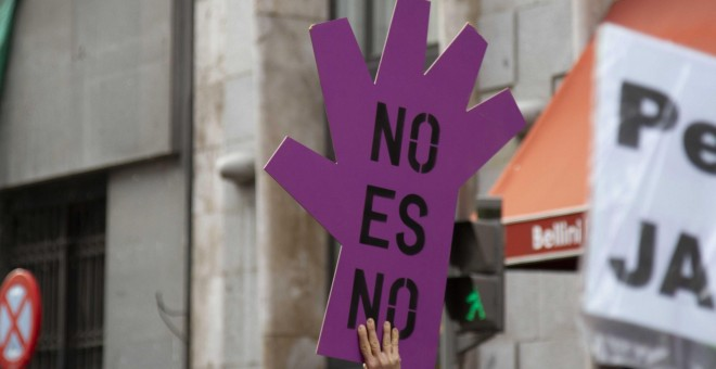 Imagen de un cartel en el 25N del pasado año. CANDELA CHOCLÁN