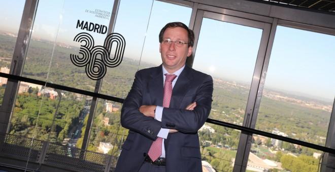 El alcalde, durante la presentación del Plan Madrid 360. / Ayuntamiento de Madrid.